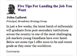 John Laforet - Broadview Strategy Group - Five Tips