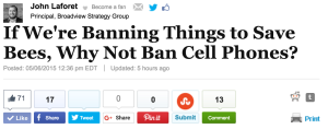 John Laforet - Huffington Post - Broadview Strategy Group - Ban Cell Phone