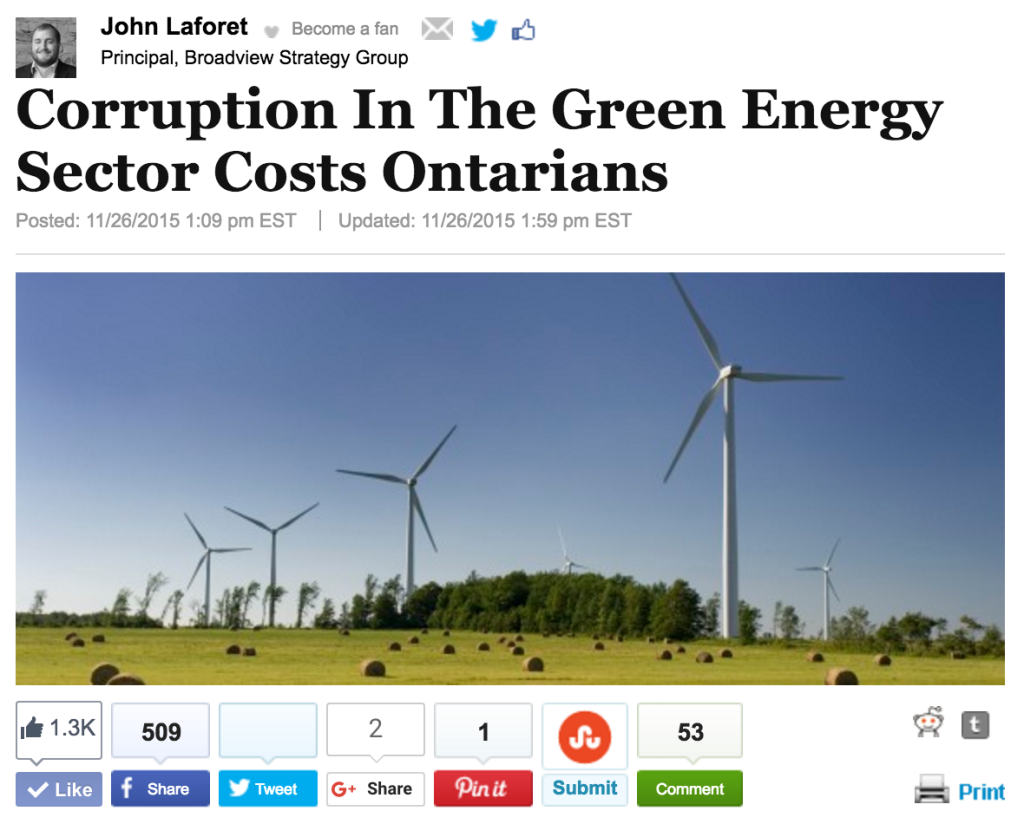 John Laforet - Huffington Post - Broadview Strategy Group - Green Energy